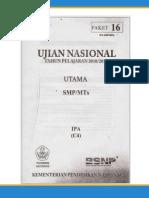 Soal UN SMP Tahun 2011 Ipa (p16)