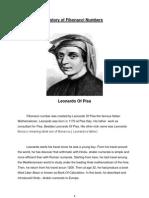 History of Fibonacci Numbers