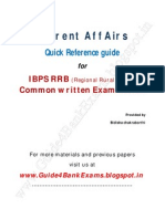 Current Affairs Quick Reference Guide for IBPSRRB