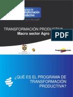 4 El Sector Agricola en El Programa de Transformacion Productiva