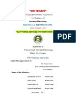 Slip Power Recovery Of Induction Motor Through Matlab Project Report