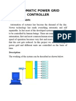 Automatic Power Grid Controller Synopsis