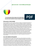 Reconquête Des Régions Du Nord Le Mali Doit Payer Le Prix Du Sang