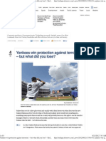 Yankees Win Protection Against Terrorism