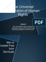 The Universal Declaration of Human Rights Article 4