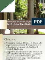 Procesos de evaluación para la efectividad institucional - 2010