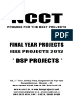 IEEE DSP 2012-13 Project Titles