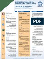Afiche Congreso internacional de Accesabilidad, Justicia y Paz
