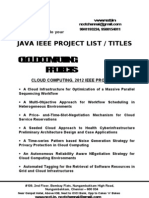 Java - Cloud Computing Project Titles - List = 2012-13, 2011, 2010, 2009, 2008