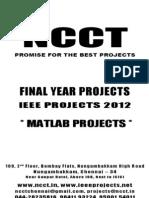 MATLAB 2012-13 Project Titles