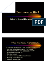 Sexual Harrassment at Workplace