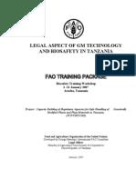 Legal Aspect of Biosafety in Tanzania