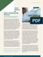 Using plant hormone technology to enhance soybean biomass under environmental stresses