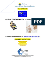 Arsenic Contamination in Food and Water