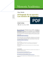 Rosa, Nicolás El lenguaje del ausente (literatura y psicoanálisis)