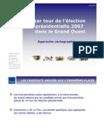 TMO Régions - Approche cartographique des présidentielles 2007 1er Tour
