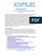 An FPF Survey of Best Practices in Mobile Application Privacy