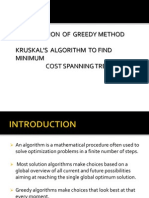 Application of Greedy Method