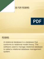 DataBase for Rdbms