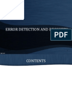 Error Detection Recovery