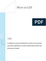 More on LEX Programming