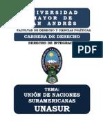 UNASUR - DERECHO DE INTEGRACIÓN - MONOGRAFIA
