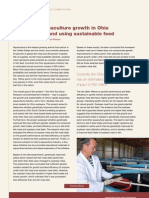 Supporting aquaculture growth in Ohio by developing and using sustainable feed