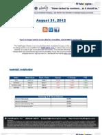 ValuEngine Weekly Newsletter August 31, 2012