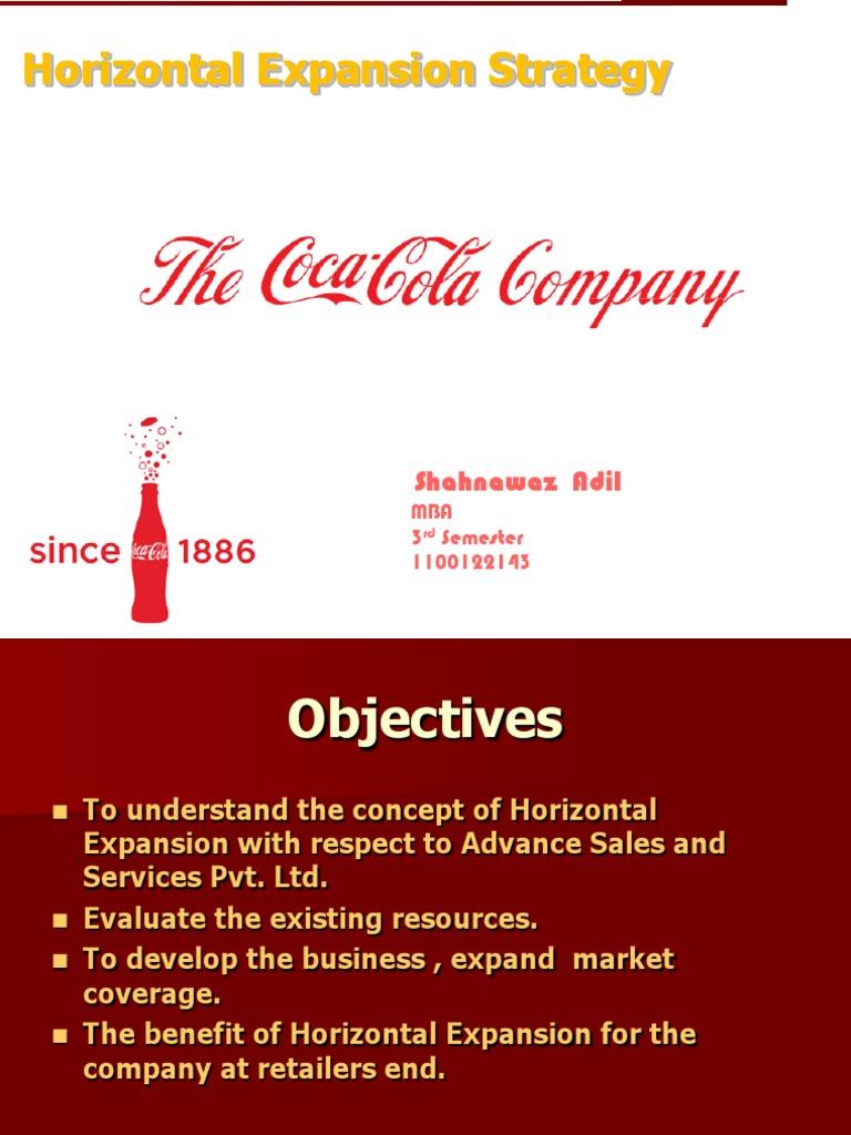 coca cola ppt on horizontal market expansion coca cola brand
