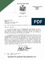 Judge Doran Letter