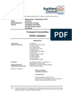 Auckland Council Transport Committee Agenda - 5 September 2012