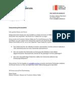 Brief DatenerhebungKirchendefizit