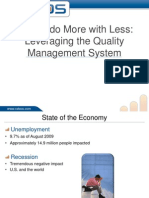 Leveraging a Quality Management System