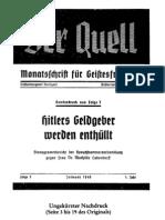 Der Quell - Hitlers Geldgeber werden enthüllt, Dr. Mathilde Ludendorff, Folge 3, 1949, Sonderdruck