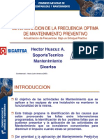 FRECUENCIA OPTIMA DE MANTENIMIENTO PREVENTIVO