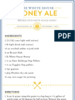 The White House Beer Recipe
