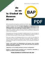 Comunicado frente a los despidos en el programa Buenos Aires Presente (BAP)