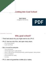 Grad School Tips