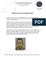 Press Release Aug 31 Robbery Arrest