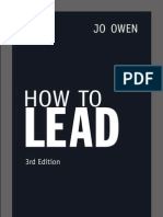 How To Lead - Jo Owen