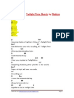 Twilight Time Chords by Platters-Calibri