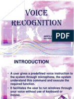 Voice Recognition PPT