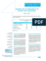 Informe de Precios Ago 2012