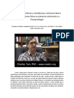 Charles Tart e a questão da ciência e do cientificismo
