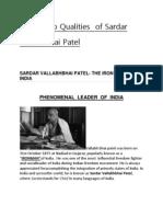 Leadership Qualities of Sardar Vallabhbhai Patel