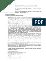 INSTRUCCIONES PARA LA APLICACIÓN Y ANALISIS DEL DIBUJO LIBRE