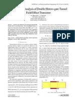 Performance Analysis of Double Hetero-gate Tunnel Field Effect Transistor