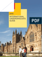 Sydney Uni 2013 International Undergraduate Student Guide