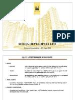 SOBHA DEVELOPERS LTD Investor Presentation