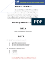 CSIR UGC NET Model Question Papers Chemical Sciences